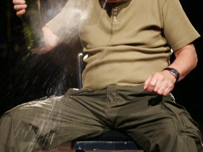 03.07.2006 KRZYSZTOF GORDON  PLAYS FALSTAFF AT A REHEARSAL OF A PLAY BASED ON SHEAKESPEARE'S DRAMAS.